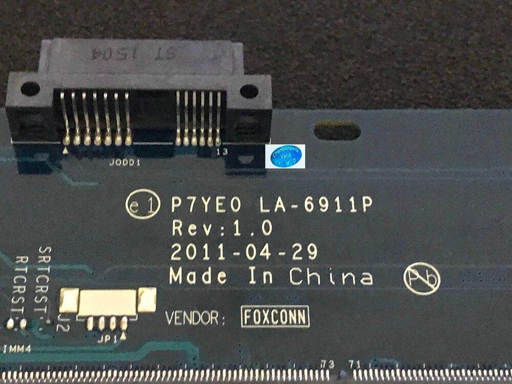 Chaud!!! P7YE0 LA-6911P livraison gratuite carte mère d'ordinateur portable pour ACER ASPIRE 7750G ordinateur portable pc carte principale puce vidéo 216-0833000