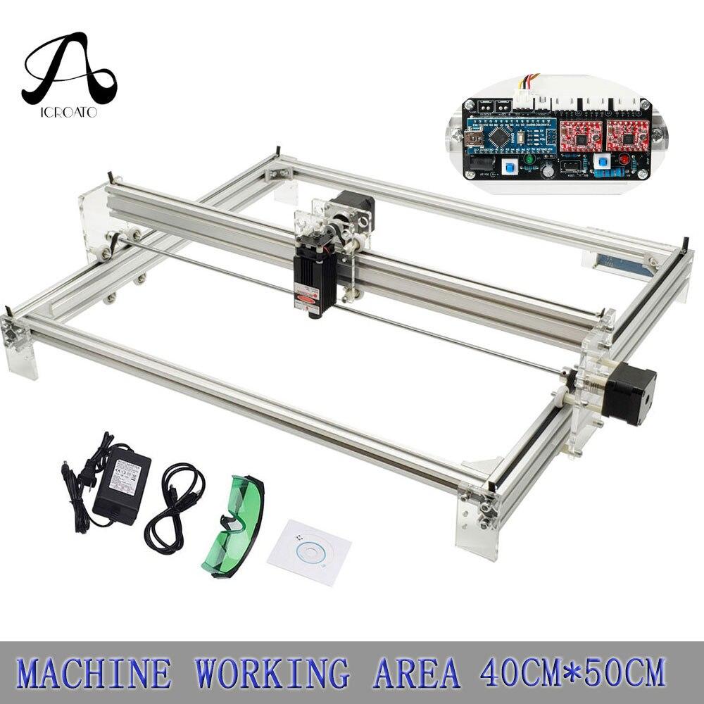 4050 CNC imprimante laser, 500 mw/1000 mw/2500 mw/5500 mw/7000 mw/mw/10 w/15 w laser pour bureau bricolage violet machine de gravure laser