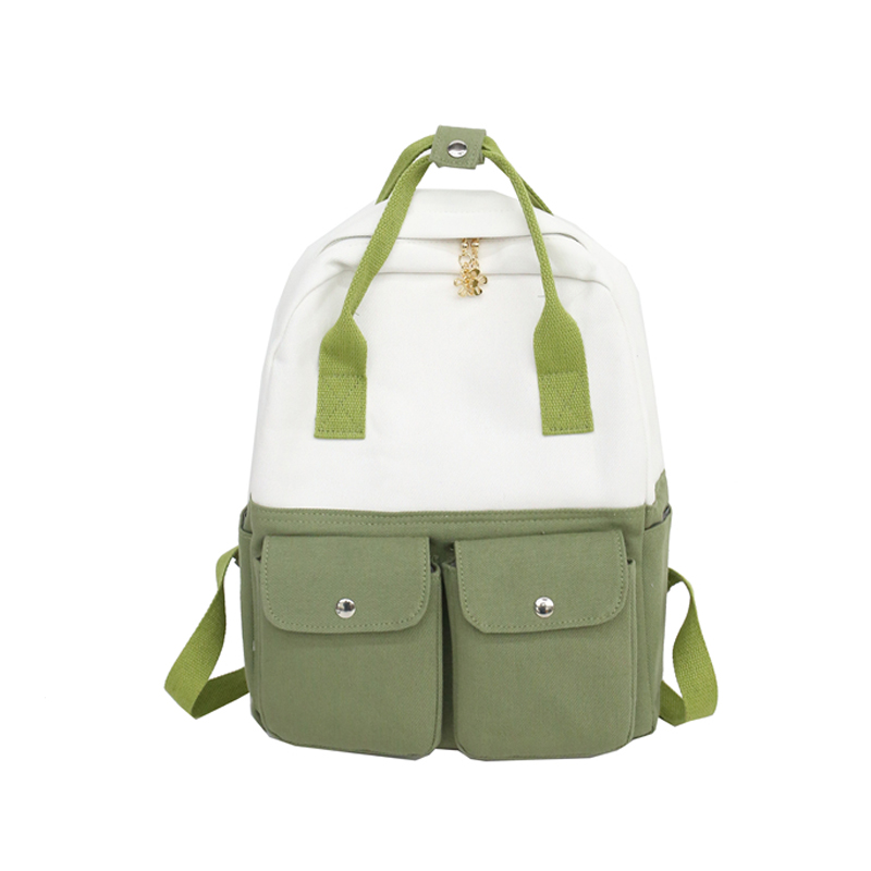 Canvas Backpack Women School Bags Female Backpacks for Teenage Girls Fashion Travel Notebook Back pack Bag mochilas mujer 2018 in Backpacks from Luggage Bags