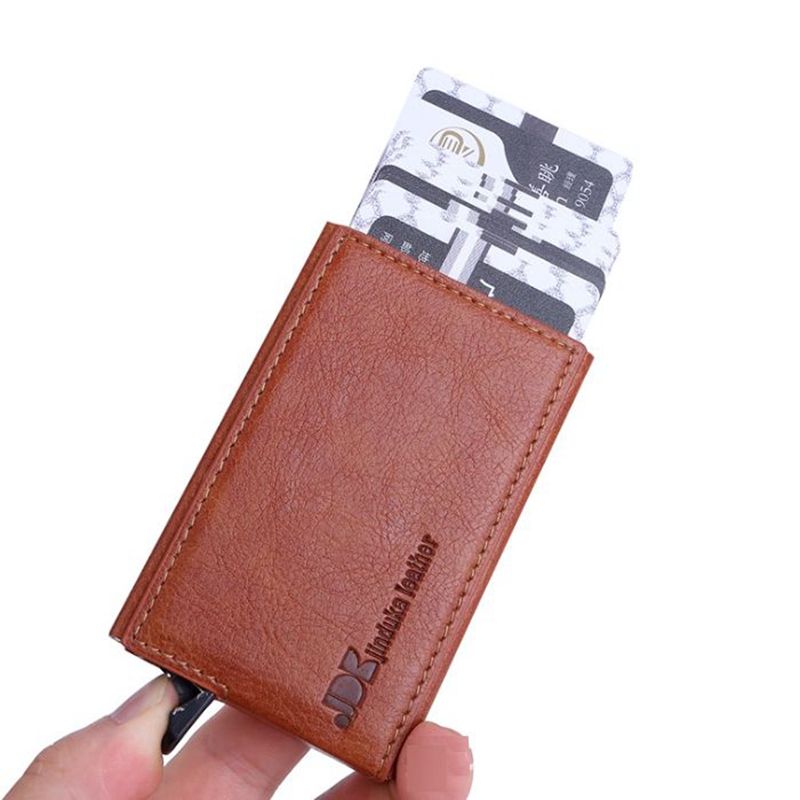 2019 men and women automatic pop up card holder business