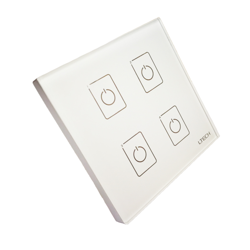 LTECH EDA4 Wall Mount Touch Panel 4CH 4 Channel Control On/Off Switch Dimmer LED Controller DALI CV Driver for LED Light ltech da2 touch panel 2ch 2 channel control on off switch dimmer wall mount led controller dali series for led light ac220v