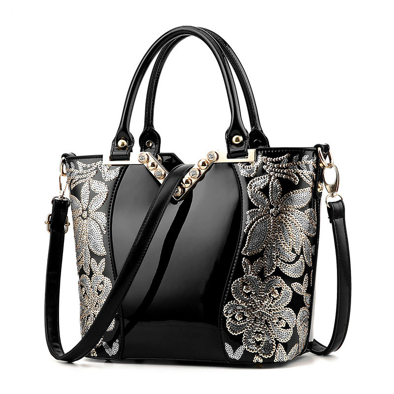 2017 Hot Patent Pu Leather Women Handbag Shoulder Bags Luxury Fashion Tote Clutch Sequins Design Patent Diamond Messenger Bag стоимость