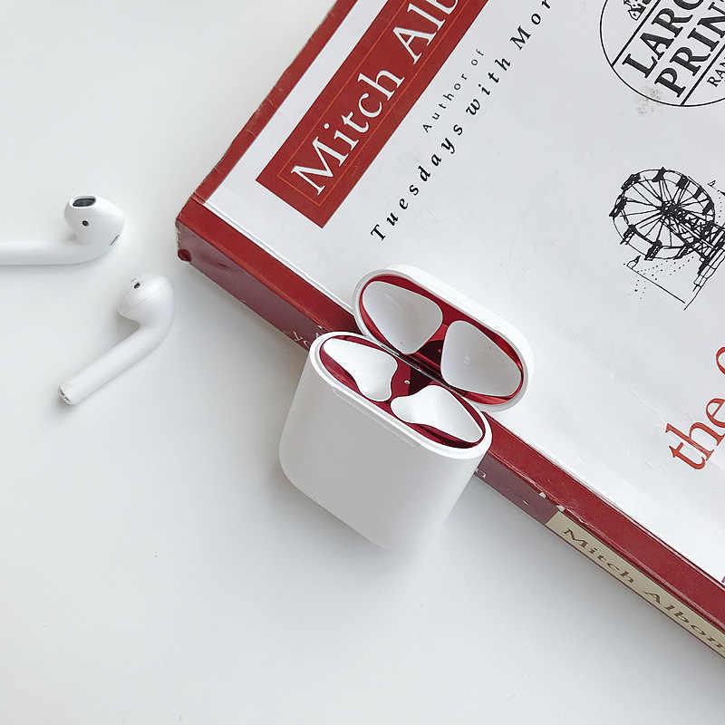 For AirPods 2 Metal Skin Protection Sticker Easy To Install Personality for i60 tws i10 tws i9s i7s i70 i80 i90 i100 i200