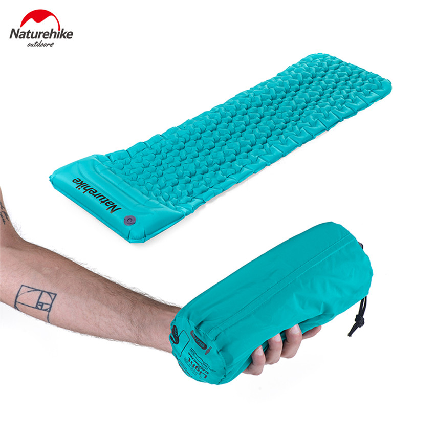 Naturehike Inflatable Mattress With Pillow Ultralight Outdoor Camping Picnic Travel Beach Air Mat Soft Sleeping Pad