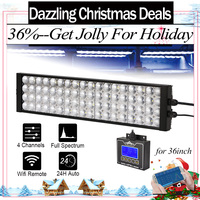 90CM 36 3ft Popbloom LED Aquarium Grow Light For Reef Coral Marine Fish Tank Dimmable Programmable Wifi Remote Control