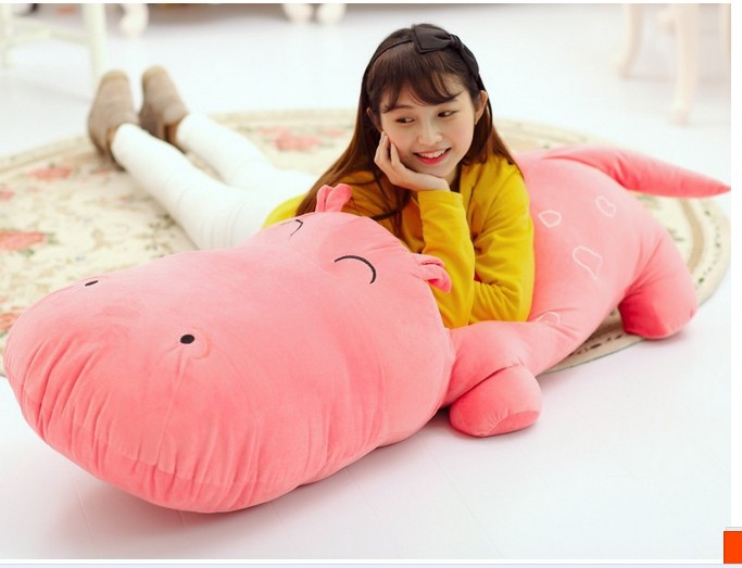 the huge  lovely hippo toy plush doll cartoon hippo doll gift toy about 160cm pink the huge lovely hippo toy plush doll cartoon hippo doll gift toy about 160cm purple