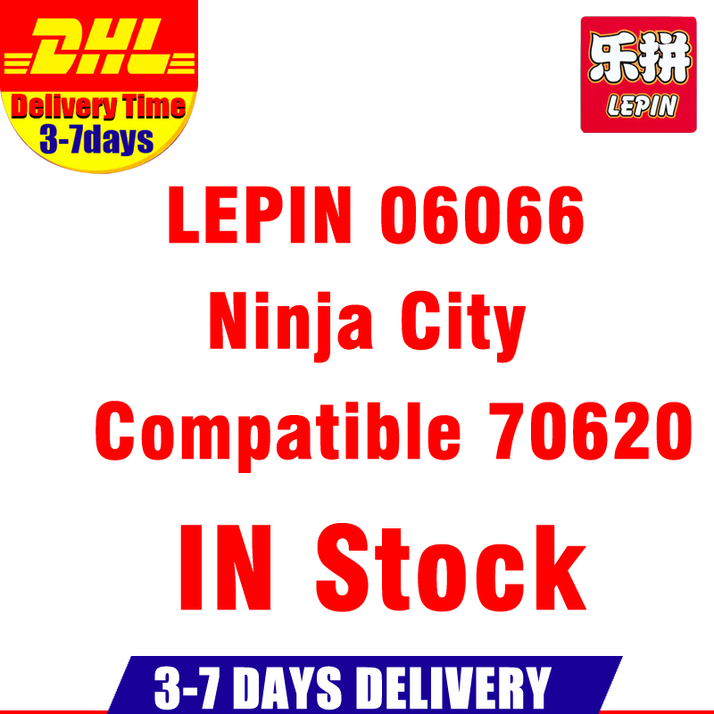 IN Stock 2017 DHL LEPIN 06066 4953 PCS City Town NINJA City Model Building Kits Set Blocks Children Toys Compatible With 70620 ynynoo lepin 02043 stucke city series airport terminal modell bausteine set ziegel spielzeug fur kinder geschenk junge spielzeug