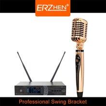 R-k6 Retro balanço microfone palco KTV especial trigo trigo pouso vertical , rolo de apoio microfone trigo trigo de jazz profissionais canção
