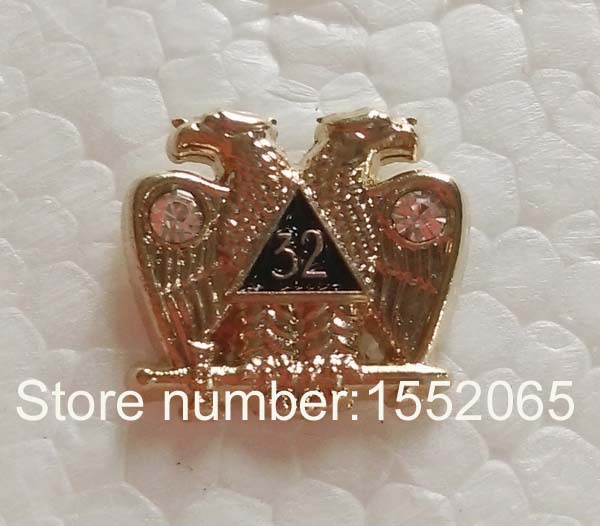 Doprava zdarma 1ks Lapel Pin Badge Masonic Scottish Rite s kamínky