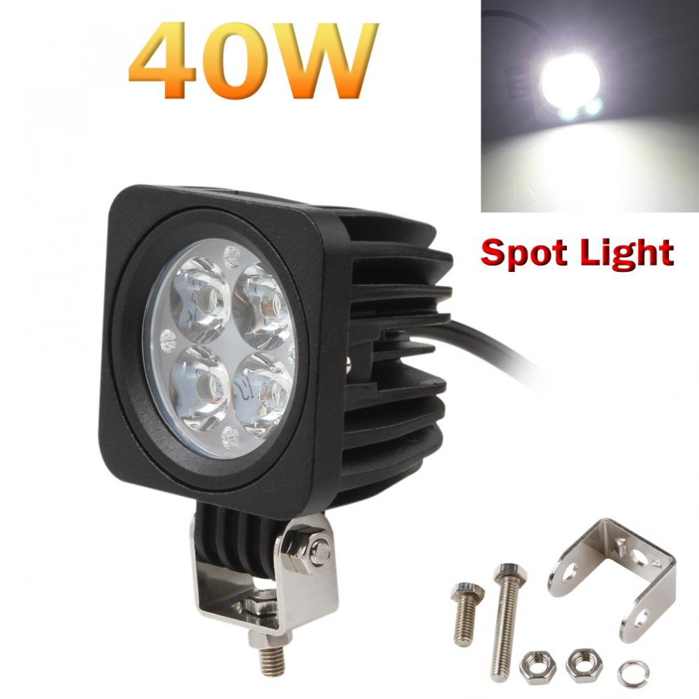 CREK 40W 3000LM 4-LED Each Modular Work Lamp Spot Light for Offroad ATV Truck SUV Jeep