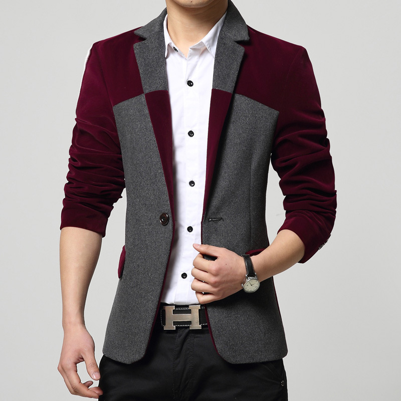 Male Self-cultivation Man's Suit Small Suit Men's Wear Wool Heavy Woolen Cloth Leisure Time Suit Spring Suit Loose Coat Male