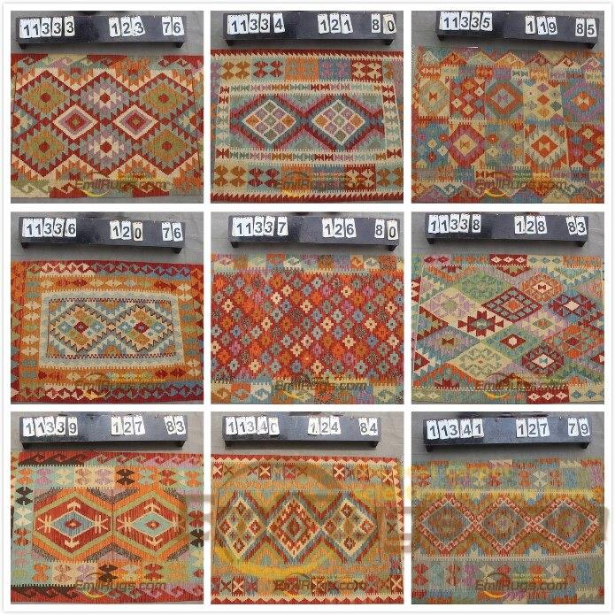 Tapis traditionnel Vintage fait main tapis Afghan 100% laine tapis décor nordique tapis gc131yg13