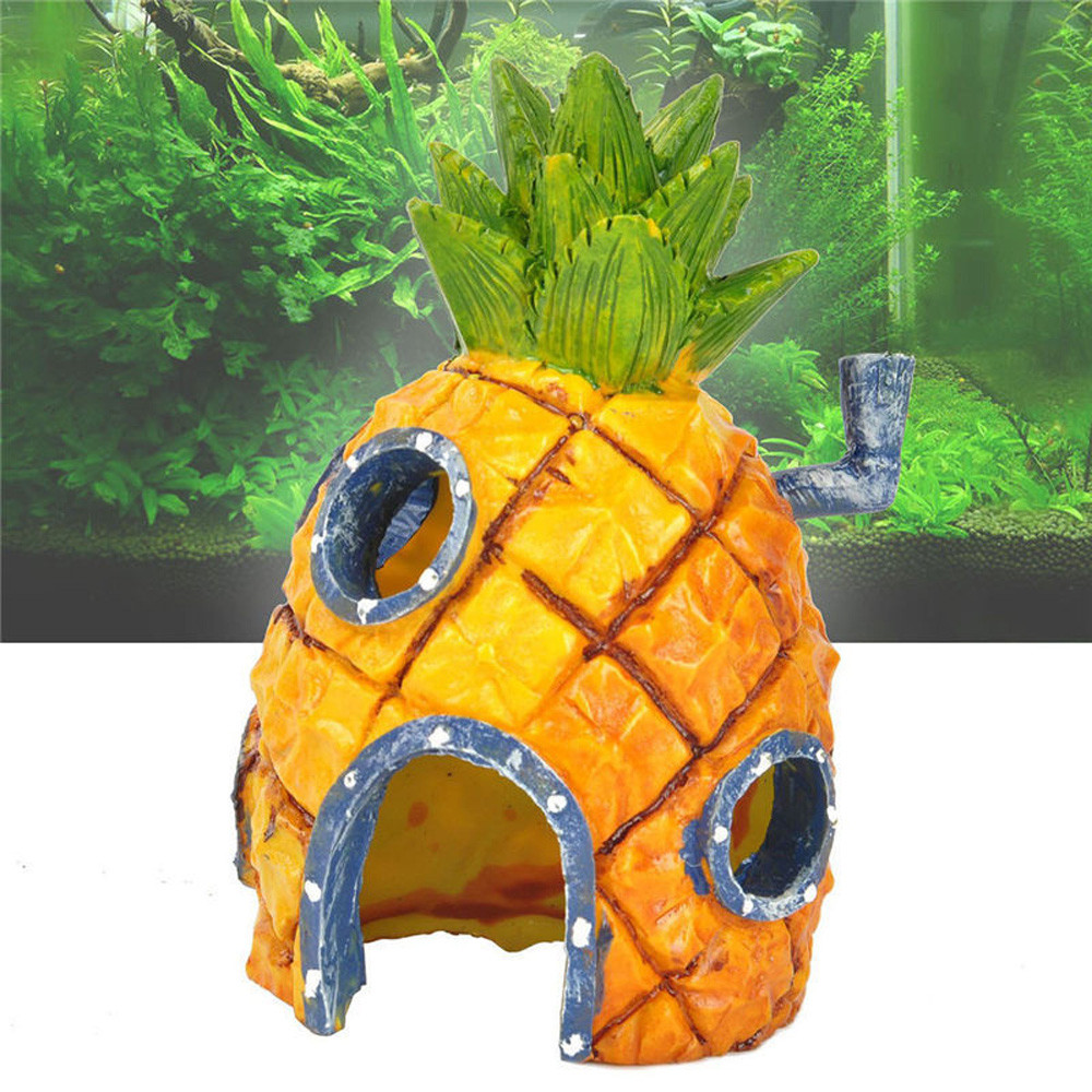 cartoon resin castle aquariums castle decoration aquarium fish