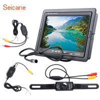 Seicane Universal 7 Inch HD 1024 600 Car Auto Parking Monitor Backup Rearview Camera Digital Video