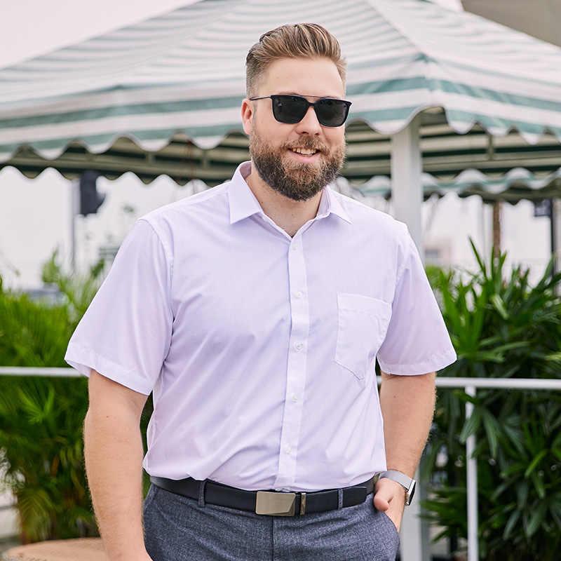 4XL 5XL 6XL 7XL 8XL большой размер мужская деловая Повседневная рубашка с длинными рукавами белая синяя Черная умная Мужская классическая мужская рубашка плюс