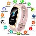新しいスポーツ防水スマート腕時計女性スマートブレスレットバンドの Bluetooth 心拍数モニターフィットネストラッカースマートウォッチ金属ケース