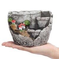 Mini Succulent Plant Flowerpot Garden Home Flower Pot Ceramic Crafts Decoration Planter Succulent Plants Pot
