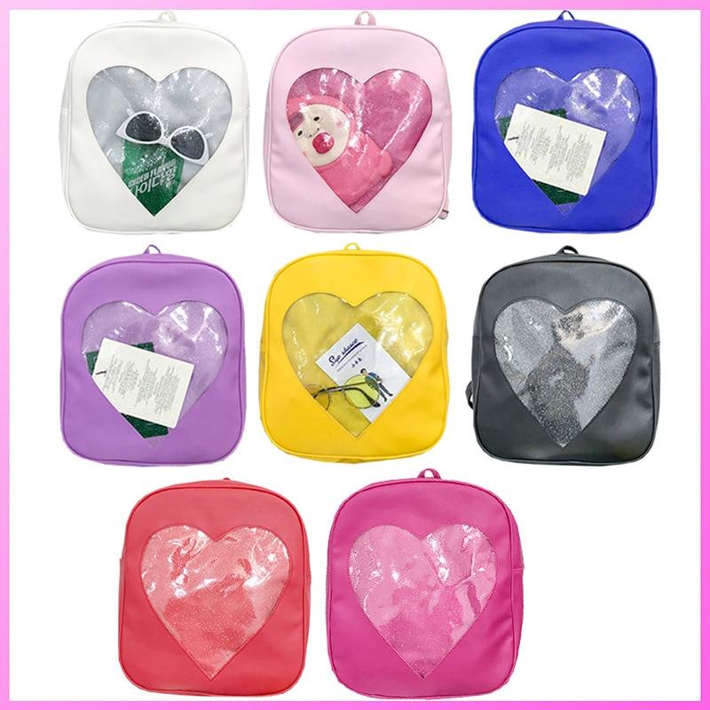 2018 Women Backpacks Girl Candy Color PU Leather School Back Pack Kawaii Harajuku Schoolbags For Teenage Girls Ita Bag