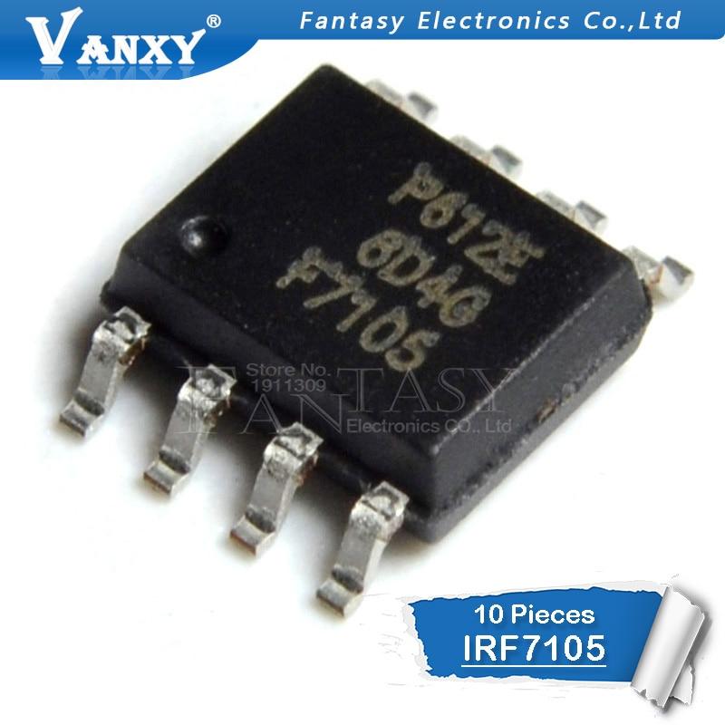 irf7105 description - 10PCS IRF7105TRPBF SOP8 IRF7105TR SOP IRF7105 SOP-8 F7105 SMD