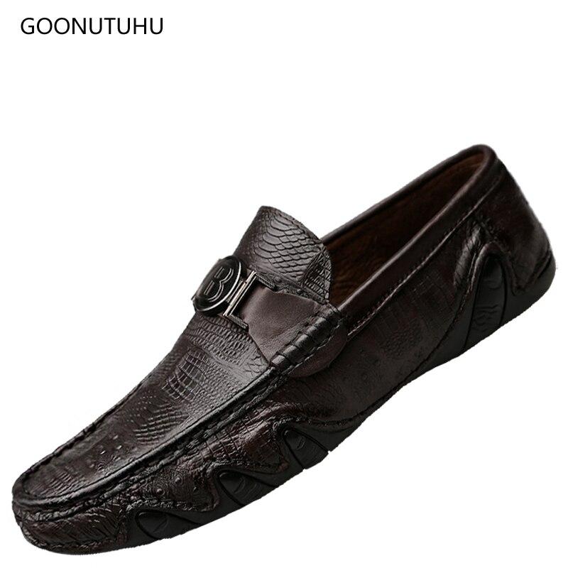font b Men s b font font b shoes b font casual genuine leather 2018