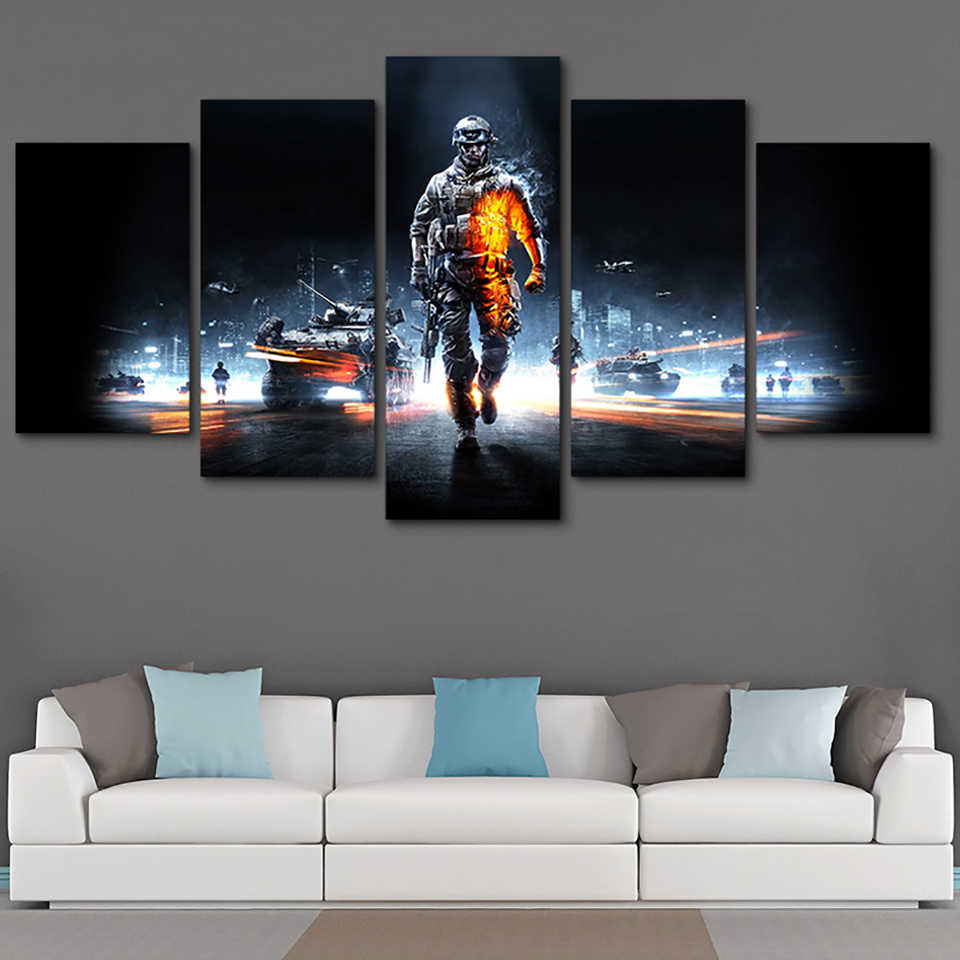 Battlefield Game HD Printed Poster Home Decor Picture Wall Art Canvas Painting Paintings on Canvas Wall Art for Modern Artwork