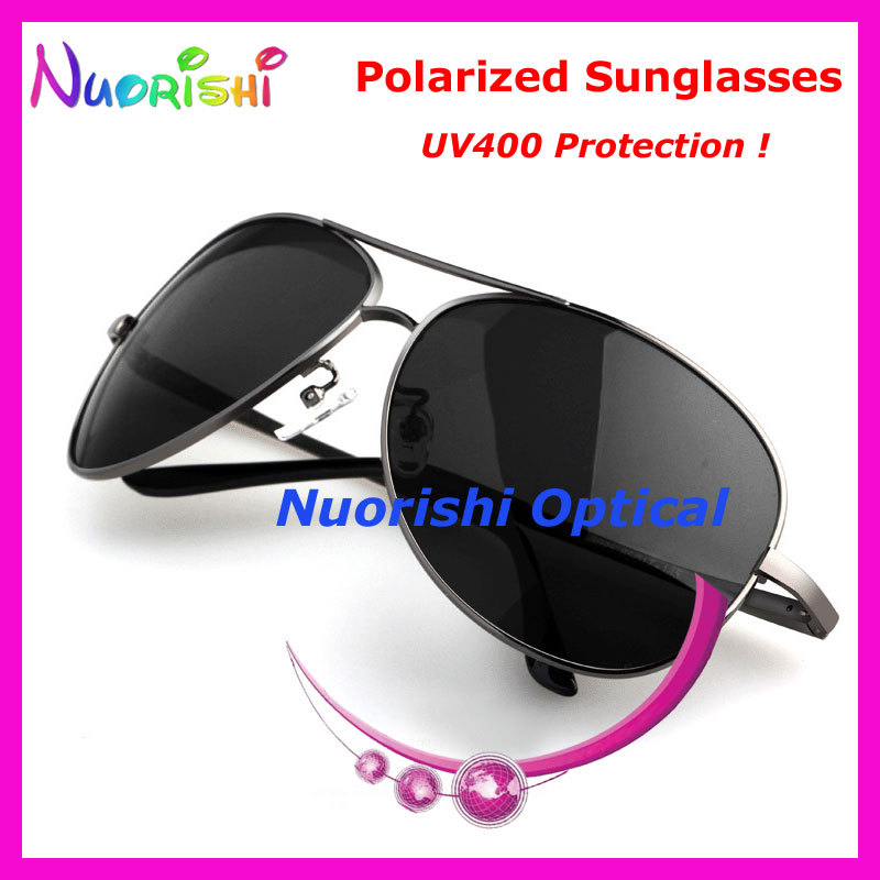 2b4bea7155 A103P Men Polarized Sunglasses TAC Lens with UV400 Pilot Style Sunglasses  free shipping-in Sunglasses from Apparel Accessories on Aliexpress.com
