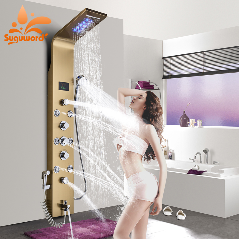 Spa Faucet Pedicure Spa Mixing Valve Bathtub Faucet Mixer: Aliexpress.com : Buy Suguword Bathroom Shower Panel Set