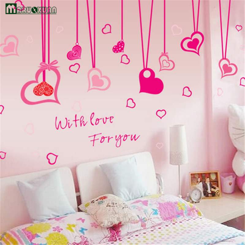 2017 Rushed Direct Selling Modern Vinilos Paredes Adesivo De Parede Love Pvc Film Cute Home Decorations Wall Stickers Painting