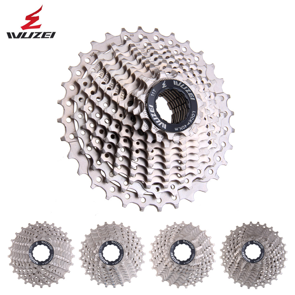 WUZEI 8/9/10/11/12speed Road Bike Flywheel 25/28/32/34/36T Free Wheels 24/27/30S Cassette Sprocket Steel All Size Bicycle Parts