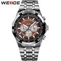 Homens esporte relógios WEIDE marca relógio de quartzo dos homens Relogio Masculino militar Diver aço cheio de moda Casual exército de pulso