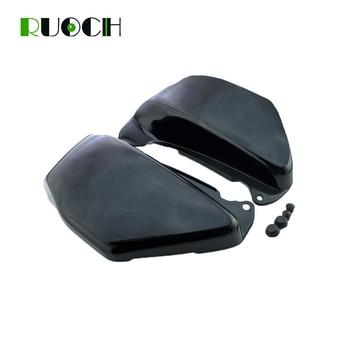 Motorcycle Parts For Honda VF750 VF750C VF 750 750C Black Chrome Battery Side Fairing Covers 1994-2004 2003 2002 2001 2000 1999