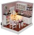 F006 DIY Wooden Doll House Miniatura kitchen Furniture Wood Dollhouse Miniature model house