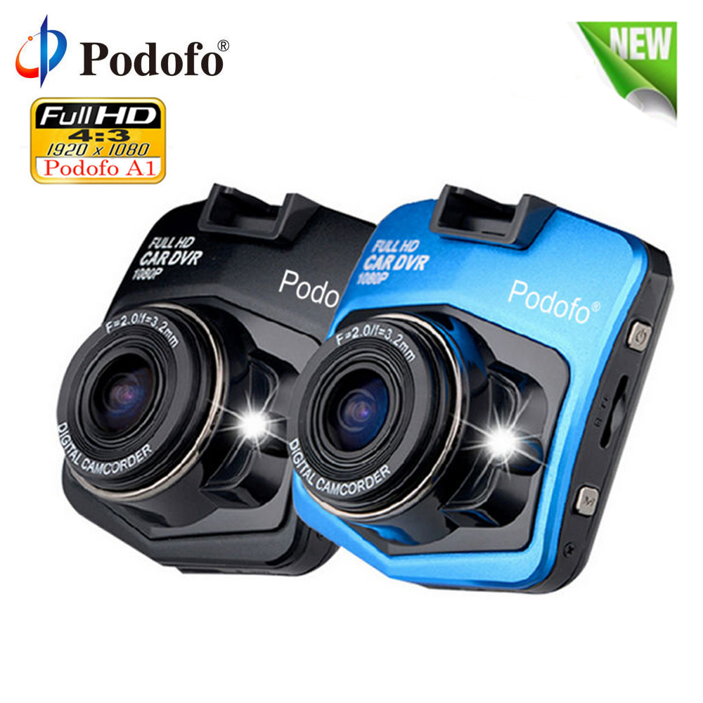 все цены на Podofo A1 Car DVR Dashcam Full HD 1080P Video Recorder Registrator Night Vision G-Sensor Car Camcorder Mini DVRs Dash Cam Camera онлайн