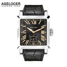 2017 AGELCOER Brand Swiss Geneva watch Men Wristwatch Automatic Mechanical Watches water resistant Date Calendar with watch case