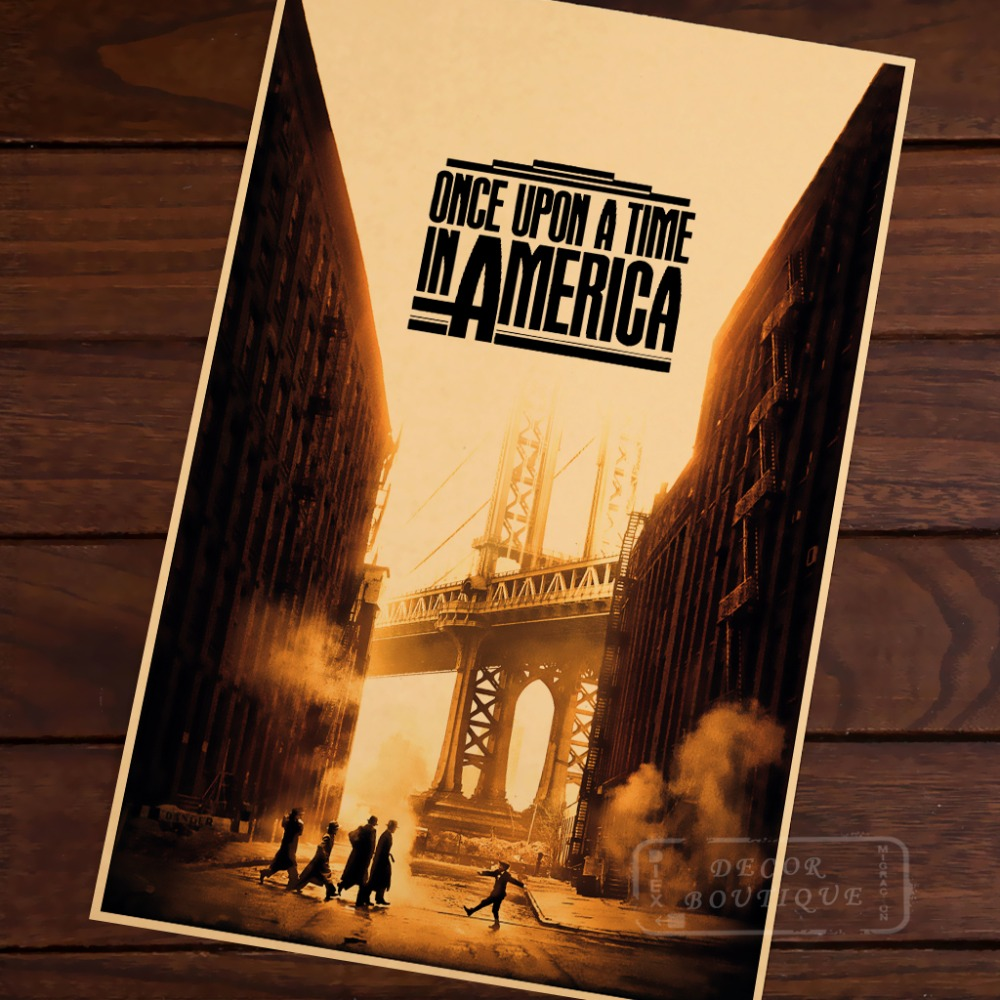 Once Upon a Time in America Noodles Youth Gangs Vintage Retro Poster ...