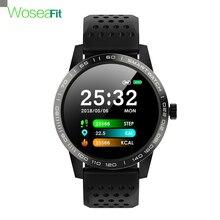 SmartWatch IP68 impermeable presión arterial rastreador deportivo de ritmo cardíaco recordatorio Bluetooth reloj deportivo inteligente para Android IOS