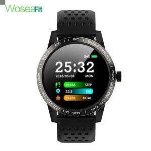 Image 1 - Smartwatch ip68 방수 혈압 심장 박동 피트니스 트래커 안드로이드 ios에 대한 블루투스 스포츠 스마트 시계를 생각 나게하십시오
