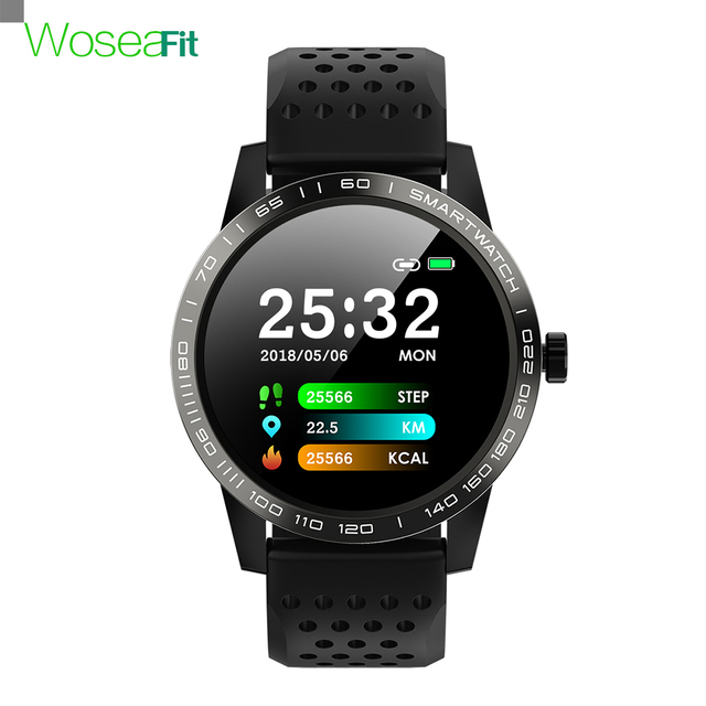 Smartwatch ip68 방수 혈압 심장 박동 피트니스 트래커 안드로이드 ios에 대한 블루투스 스포츠 스마트 시계를 생각 나게하십시오