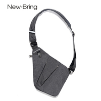 NewBring Summer Black Single Shoulder Bags For Men Waterproof Nylon Crossbody Bags Male Messenger Bag