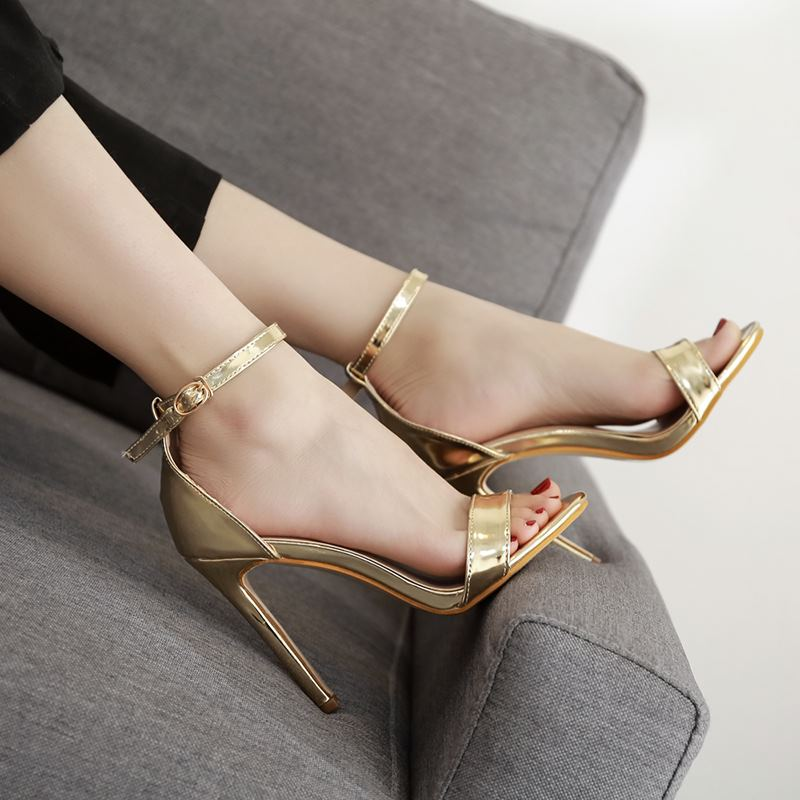 2019 Summer High Heels Women Peep Toe Pumps Women Shoes Buckle Women Sandals Sexy Party Shoes Women Heels Female Plus Size(China)