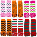 8 styles Children Baby Girls Stripe Colorful  Leg Warmers Babies Kids  Cute Kneepad Stocking Leggings  New Xmas