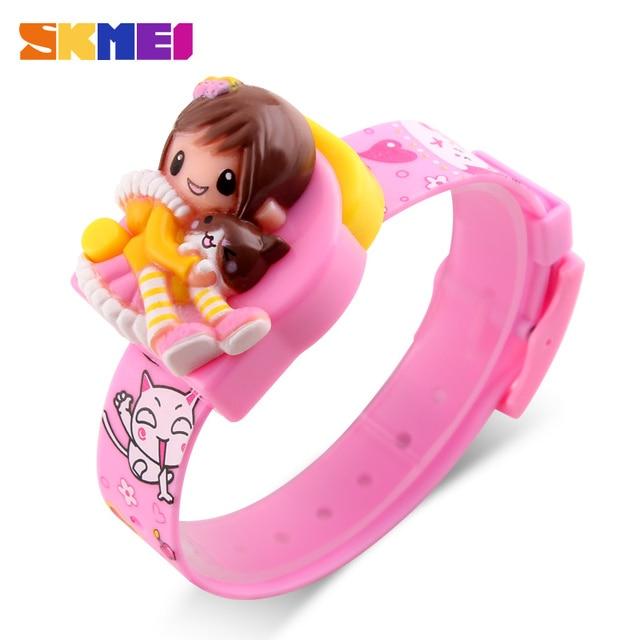 SKMEI Kids Children Watches Cartoon Digital Clock Cute Electronic Watch Fashion