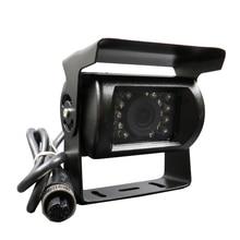 Бесплатная Доставка Новый 4 Pin 600TVL SONY CCD ИК Ночного видения Водонепроницаемый Заднего Вида Автомобиля Обратный Резервный Камера для Автобус Грузовик ван
