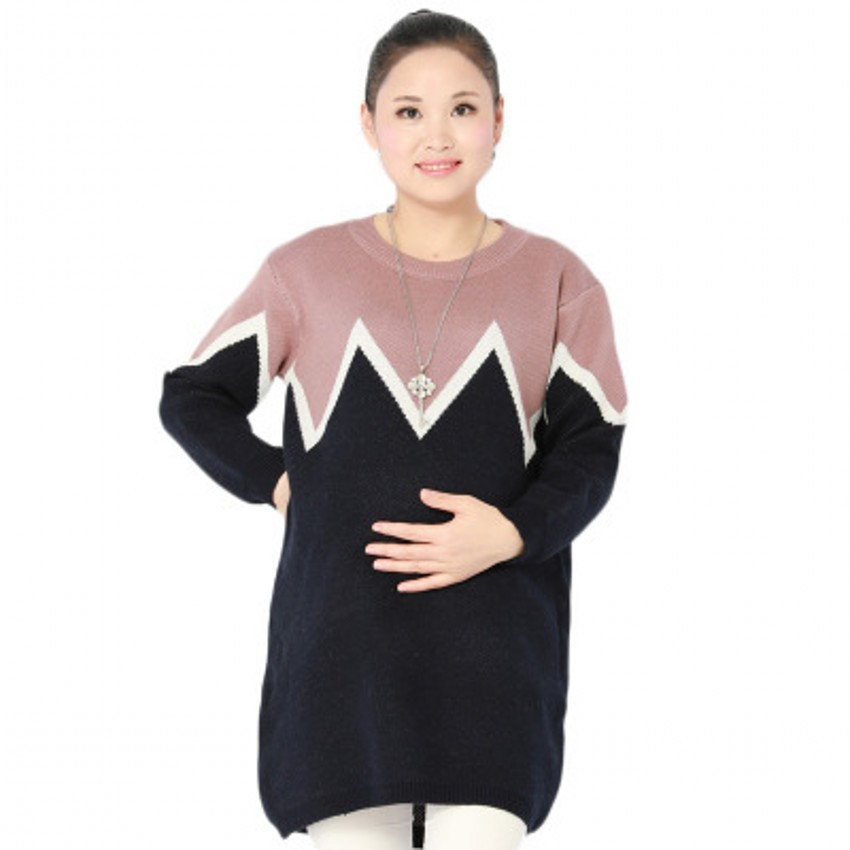 Autumn Winter New Pregnant Women Sweater Thickening Slim Package Hip Warm Clothing Knitted Shirt Maternity Sweaters autumn winter female long wool knitted dresses turtleneck slim lady accept waist package hip pullovers sweater dress for women