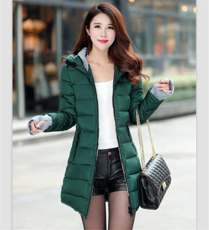 Aliexpress.com : Buy Women's Jacket Winter 2017 New Medium Long ...