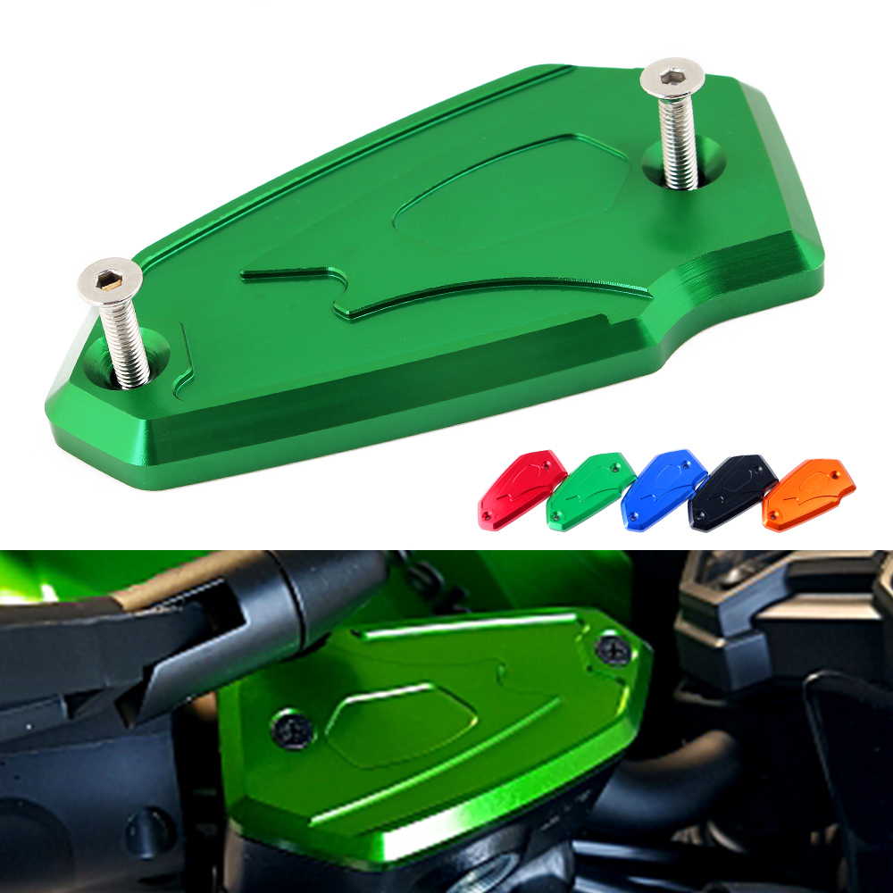 CNC Motorcycle Front Fluid Brake Reservoir Clutch Tank Cylinder Master Oil Cap Protective Cover For Kawasaki Z900 Z 900 2017 for honda cbr600rr 07 15 cbr1000rr 04 15 cb1000r 08 15 red motorcycle front brake master cylinder fluid reservoir cover cap