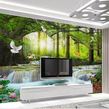 Custom Size 3D Photo Wallpaper Mural Sticker Living Room Multi Style Co