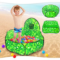 Hexagon Square Ocean Ball Pit Pool Game Shooting Play Tent Kids Hut Pool Play Tent Children