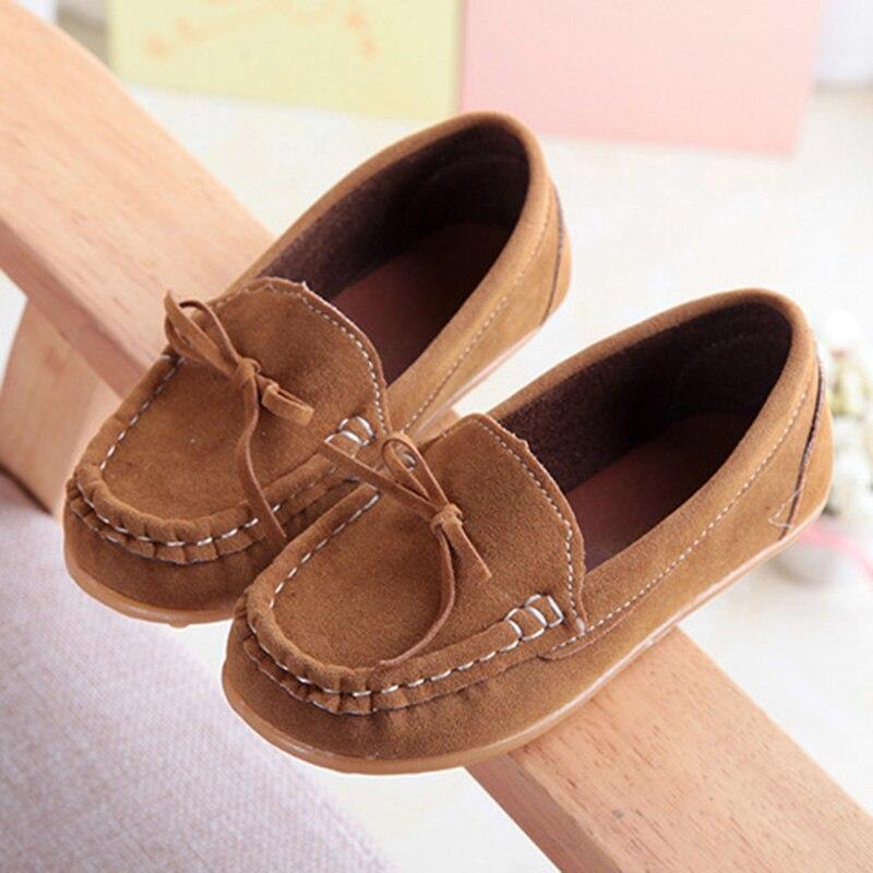 All Seasons Crianças Sapatilhas Sapatos Meninas Da Criança Sapatos Casuais Sola Macia Mocassins PU Mocassins de Couro Sapatos de Crianças Anti-Escorregadio