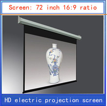 72-inch projection screen 16:9 screenhome theater projector screen  HD projector screen electric curtain  Wireless Remote
